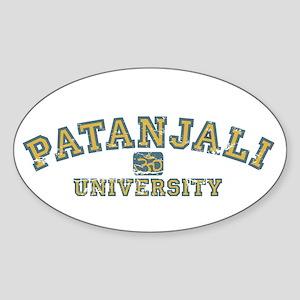 Orange/Blue Patanjali University Oval Sticker