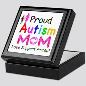 Proud Autism Mom Keepsake Box