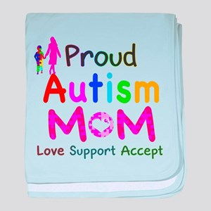 Proud Autism Mom baby blanket