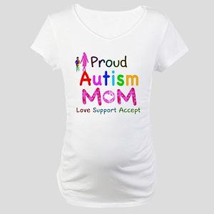 Proud Autism Mom Maternity T-Shirt