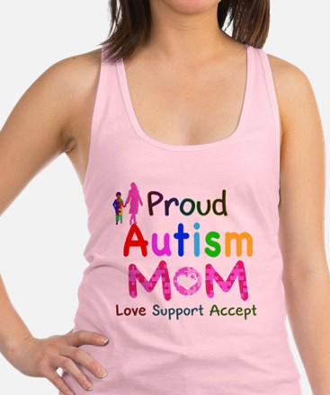 Proud Autism Mom Racerback Tank Top