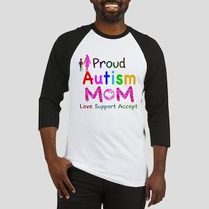 Proud Autism Mom Baseball Jersey