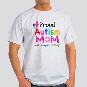 Proud Autism Mom Light T-Shirt