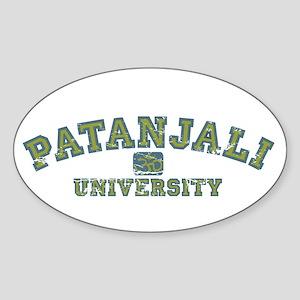 Green/Blue Patanjali University Oval Sticker
