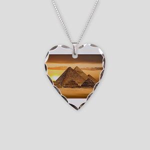 Egyptian pyramids Necklace Heart Charm