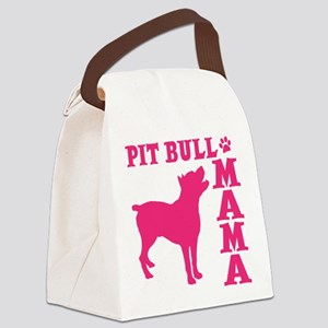 PIT BULL MAMA Canvas Lunch Bag