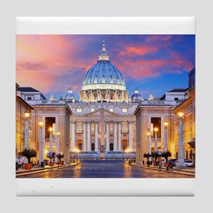 Vatican Rome Italy Tile Coaster