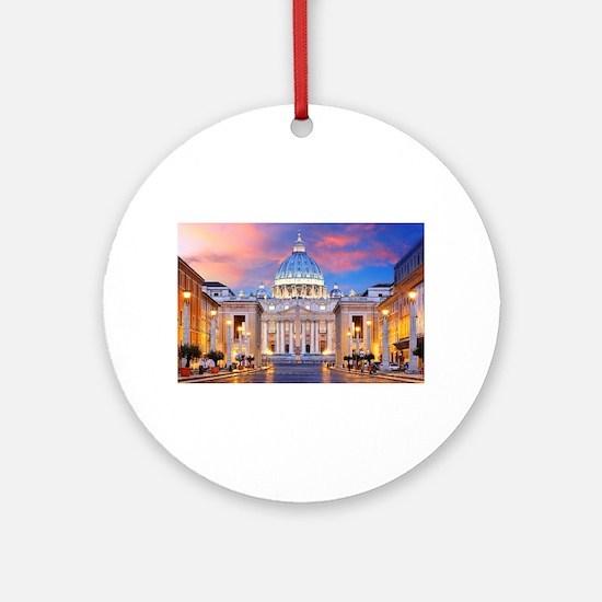 Vatican Rome Italy Round Ornament