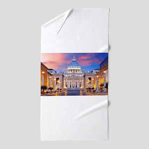 Vatican Rome Italy Beach Towel