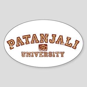 Red/Yellow Patanjali University Oval Sticker