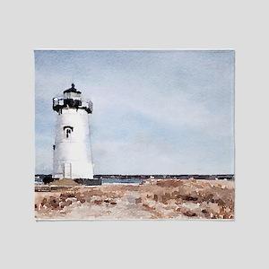 Edgartown Lighthouse Throw Blanket
