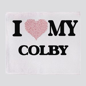 I Love my Colby (Heart Made from Lov Throw Blanket