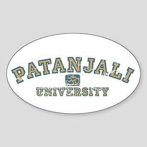 Blue/Yellow Patanjali University Oval Sticker