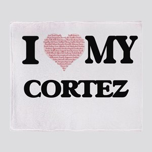 I Love my Cortez (Heart Made from Lo Throw Blanket