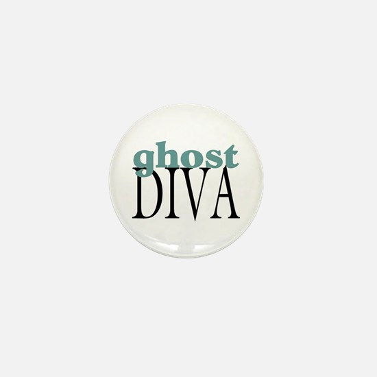 Ghost Diva Mini Button