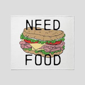 Need Food Throw Blanket