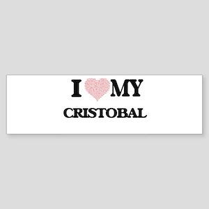 I Love my Cristobal (Heart Made fro Bumper Sticker