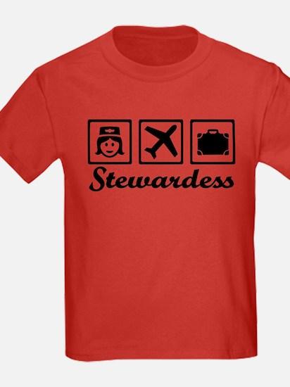 Stewardess airplane T