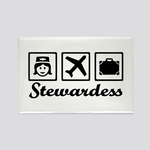 Stewardess airplane Rectangle Magnet