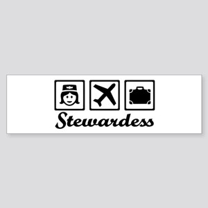 Stewardess airplane Sticker (Bumper)