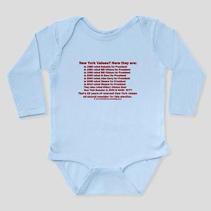 New York Values Long Sleeve Infant Bodysuit