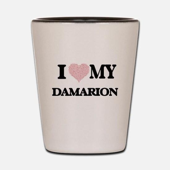 I Love my Damarion (Heart Made from Lov Shot Glass