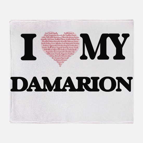 I Love my Damarion (Heart Made from Throw Blanket