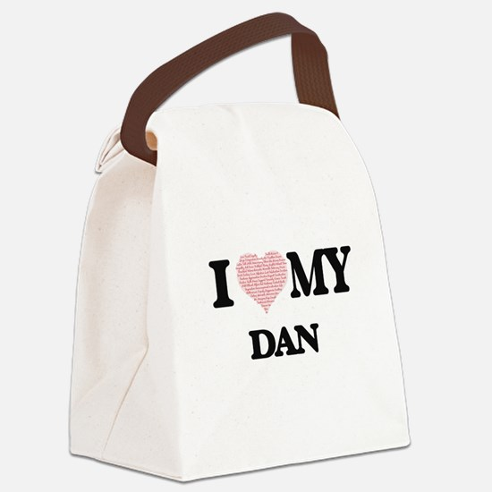 I Love my Dan (Heart Made from Lo Canvas Lunch Bag
