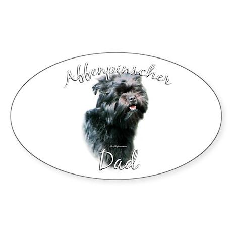 Affenpinscher Dad2 Oval Sticker