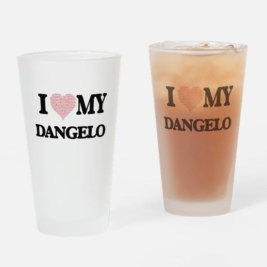 I Love my Dangelo (Heart Made from Drinking Glass