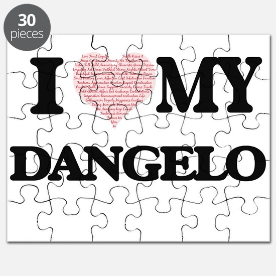 I Love my Dangelo (Heart Made from Love my Puzzle