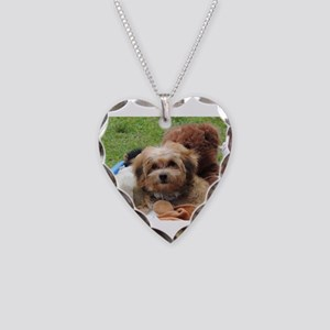 Copper the Havapookie Necklace Heart Charm