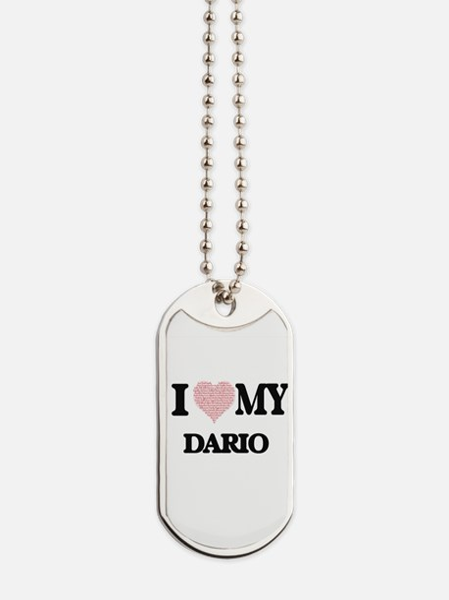 I Love my Dario (Heart Made from Love my Dog Tags