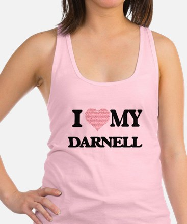 I Love my Darnell (Heart Made f Racerback Tank Top