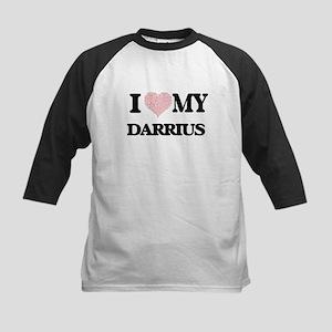 I Love my Darrius (Heart Made from Baseball Jersey