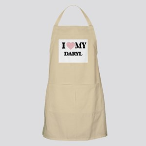 I Love my Daryl (Heart Made from Love my wor Apron