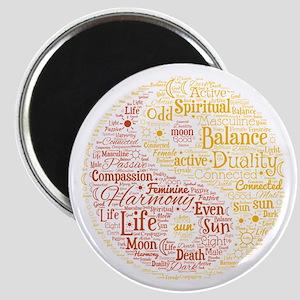 Yin Yang Spiritual Word Art Magnet