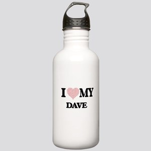 I Love my Dave (Heart Stainless Water Bottle 1.0L