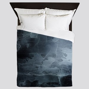 BLACK SPLATTER Queen Duvet