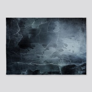 BLACK SPLATTER 5'x7'Area Rug