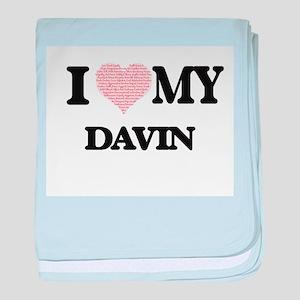 I Love my Davin (Heart Made from Love baby blanket