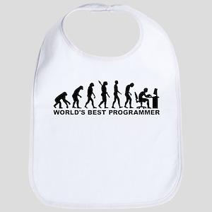 Evolution world's best Programmer Bib