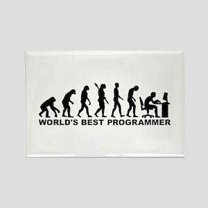 Evolution world's best Programmer Rectangle Magnet
