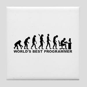 Evolution world's best Programmer Tile Coaster
