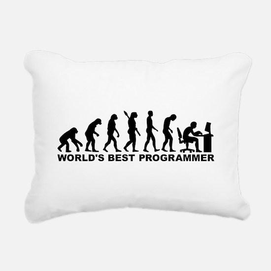 Evolution world's best P Rectangular Canvas Pillow