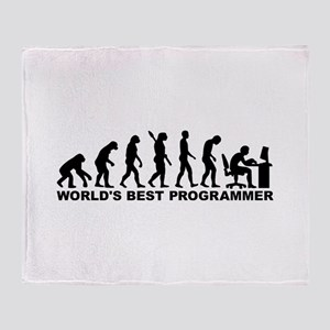 Evolution world's best Programmer Throw Blanket