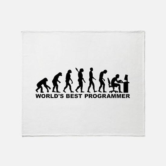 Evolution world's best Programmer Throw Blanket