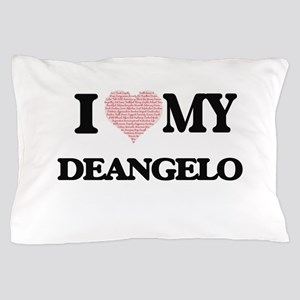 I Love my Deangelo (Heart Made from Lo Pillow Case