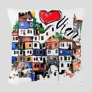 I love Vienna Woven Throw Pillow