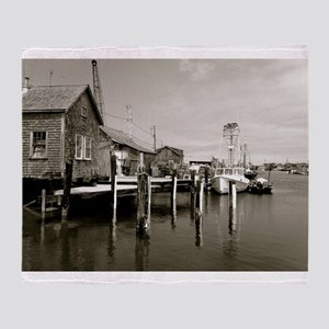 Menemsha Black & White Throw Blanket